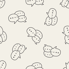 Doodle Dialog seamless pattern background