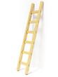 Wooden ladder near white wall - 80053862