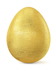 Golden Easter egg isolated