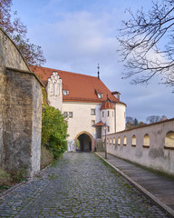 Altenburg castle palace gate, Thuringia, Germany
