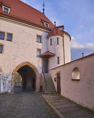 Altenburg castle palace gate, Thuringia, Germany
