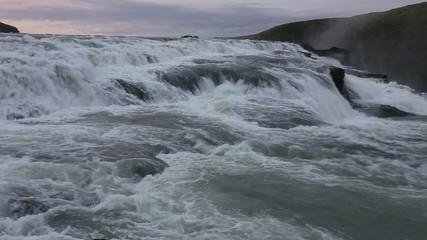 Stream of Water , Gullfoss  waterfall, Iceland