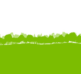 Forest trees silhouettes landscape illustration background ecolo