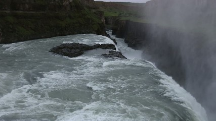 Downstrem, Gullfoss Waterfall, Iceland