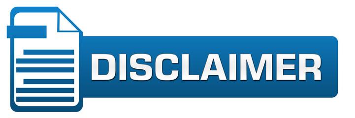 Disclaimer File Icon Horizontal