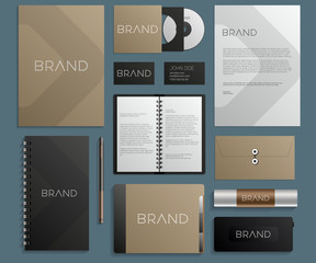 Modern corporate identity template design