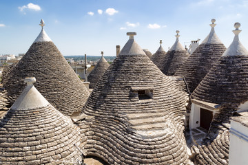 Trulli roof in Alberabello. Italy.