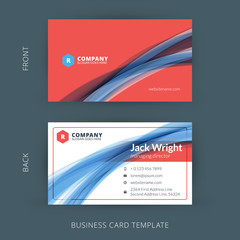 Vector creative and clean business card template