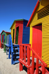 St. James Beach Strandhütten. Kapstadt
