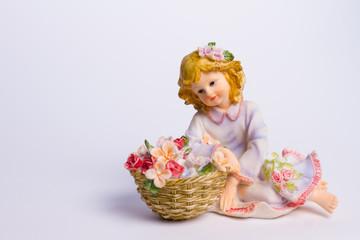 Gentle ceramic  girl