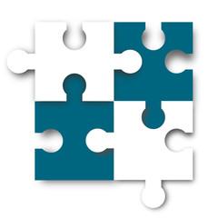 puzzle element blau weiß
