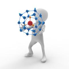 メタンハイドレートの分子構造
