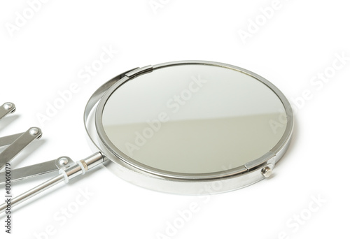 Cosmetic magnifying  mirror isolated on white - 80060079