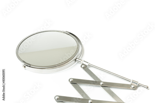 Cosmetic magnifying  mirror isolated on white - 80060095