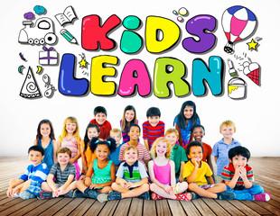Kids Learn Education Creativity Children Ideas Concept