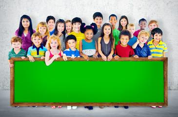 Diversity Friendship Group Kids Education Concept