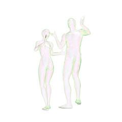 男女の人体