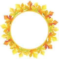 Autumn maple leave frame