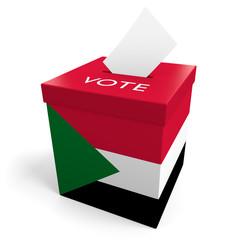 Sudan election ballot box for collecting votes