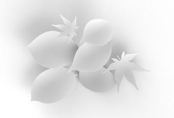 葉っぱ型のインフォグラフ