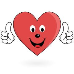 Healthy love heart