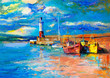 Lighthouse and boats - 80061654
