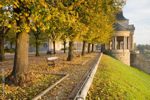 Wały Chrobrego jesienią ,Szczecin