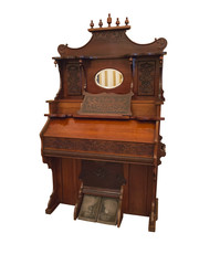 19th Century harpsichord, a small organ musical instrument isola