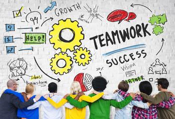 Teamwork Team Together Collaboration Diversity People Concept