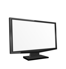 Screen monitor isolated on white background
