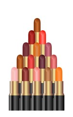 Pyramid of a palette of lipsticks