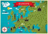 Fototapety Map of Europe Vector Illustration