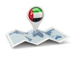Round pin with flag of united arab emirates