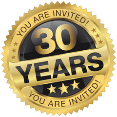 30 years - you are invited!