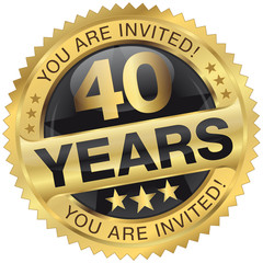 40 years - you are invited!