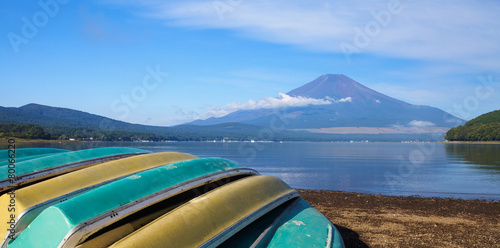 Mountain Fuji and Lake Yamanakako in summer season © torsakarin