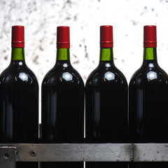 Wine bottles preparation