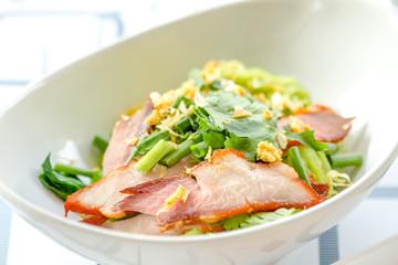 Red Pork Noodle Soup