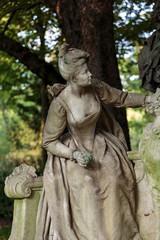 Paris - A sculpture of  woman in  Luxembourg Garden