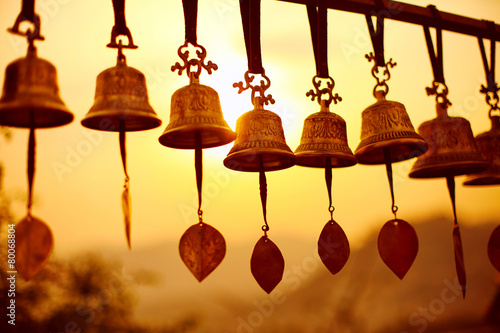 Leinwanddruck Bild Nepaly Bells
