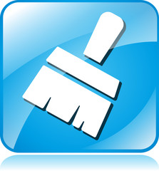 paintbrush blue square icon