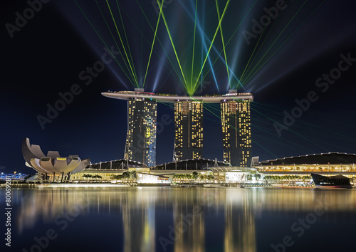 Aluminium Singapore light show in Singapore