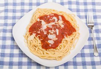 Square Plate of Spaghetti