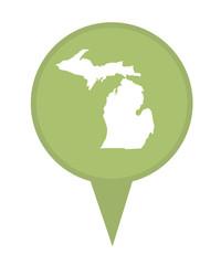 State of Michigan map pin