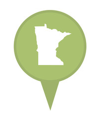 State of Minnesota map pin