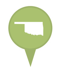 State of Oklahoma map pin