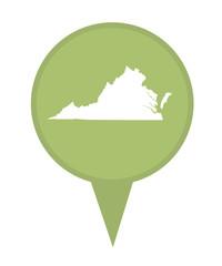 State of Virginia map pin