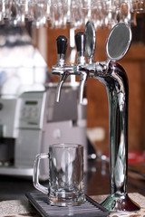 Silver faucet for pouring beer