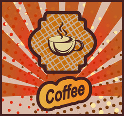 Vector banner with coffee