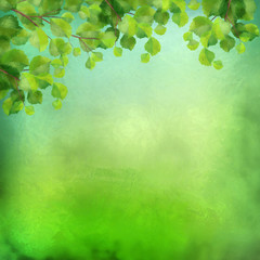 Decorative grunge green background